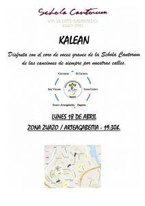 Schola Kalean zuazo 2016