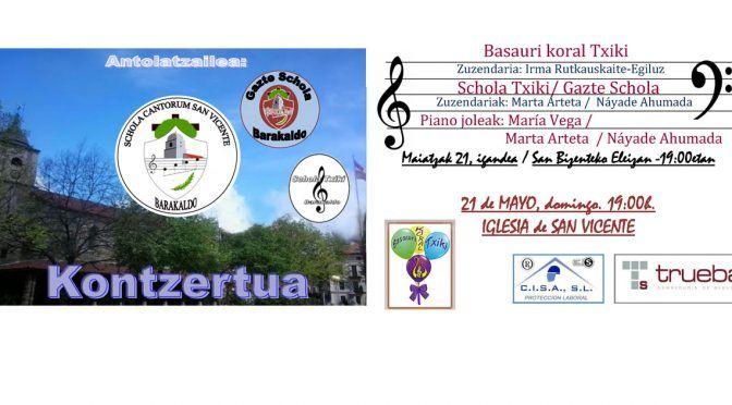 Concierto Schola Txiki / Gazte Schola