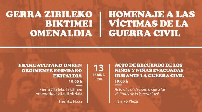 Homenaje a las víctimas de la Guerra Civil en Barakaldo