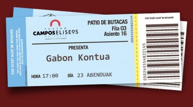 Gabon Kontua 2017 Bilbao – Entradas a la venta