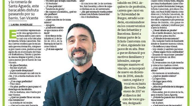 Entrevista en El Correo