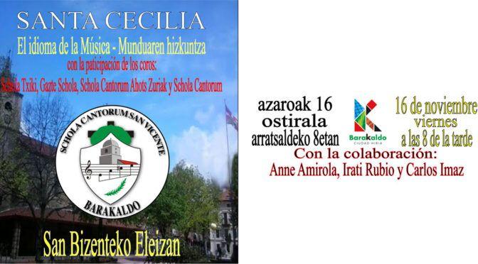 Concierto Santa Cecilia 2018