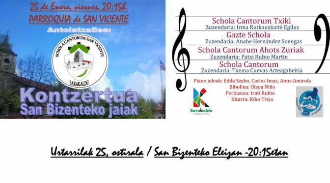 Concierto San Bizenteko jaiak 2019