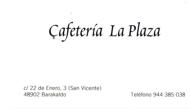 Cafetería La plaza