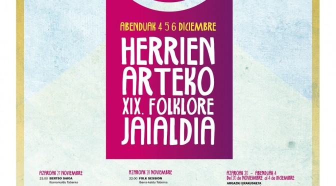 """Concierto – """"Herrien arteko XIX. Folklore Jaialdia"""""""