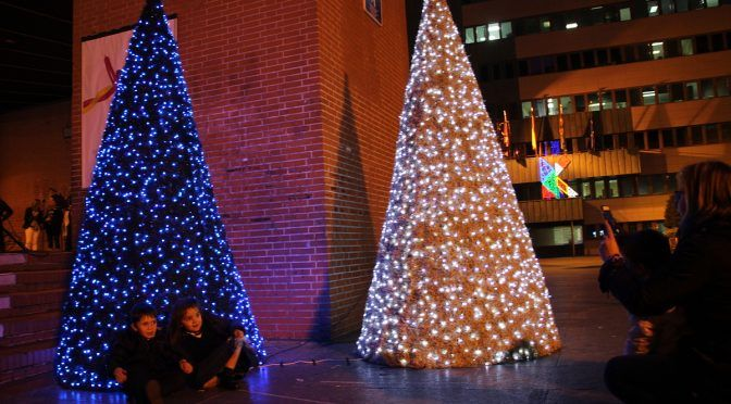 La Schola en el alumbrado navideño de Barakaldo