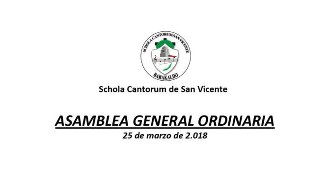 Asamblea General Ordinaria de Socios