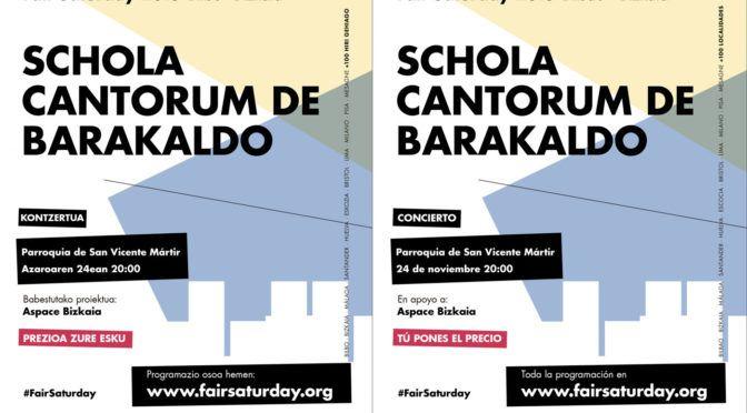 Concierto Fair Saturday 2018 a favor de ASPACE Bizkaia