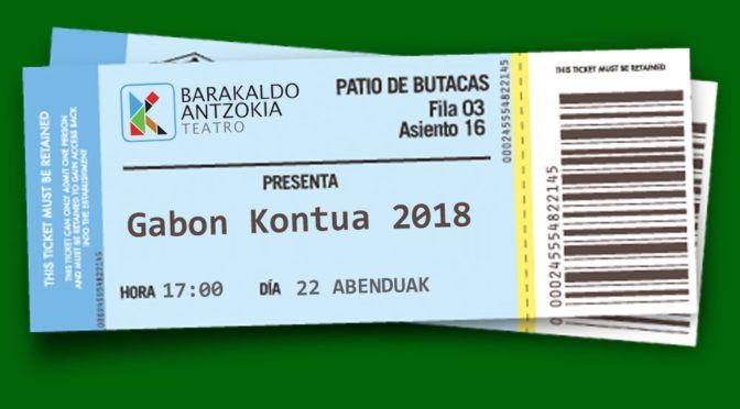 Gabon Kontua 2018 –  Entradas a la venta