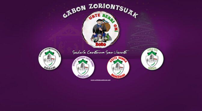 Gabon Zoriontsuak eta Urte Berri On