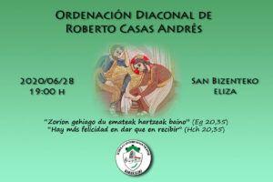 Ordenación de Roberto Casas