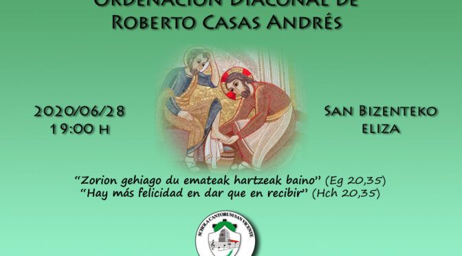 Ordenación Diaconal de Roberto Casas