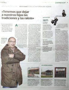 Patxi Rubio entrevistado por El Correo